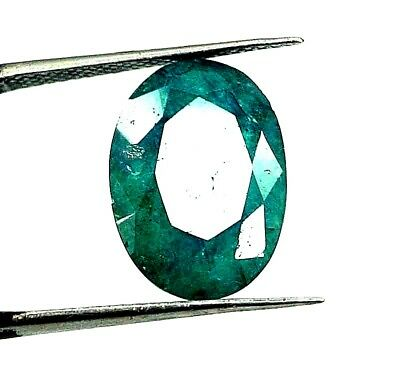 GGL Certified 6.40 Ct Natural Oval Cut Green Emerald Gemstone Hurry Now