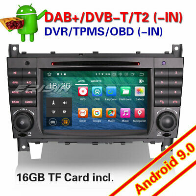 Car stereo Android 8.1 Sat Nav DAB+4G DVD for Mercedes C/CLC/CLK Class W203 W209
