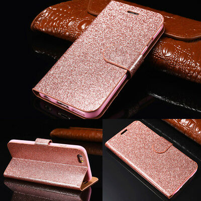 Luxury Magnetic Bling Glitter Leather Flip Case Wallet Cover For iPhone X / XS