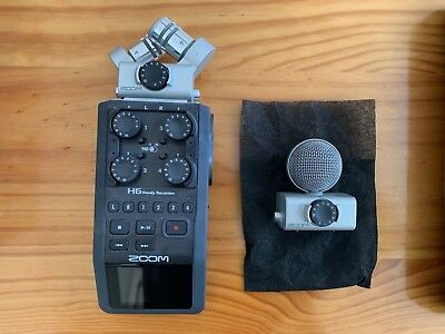 Zoom H6 Handy Recorder - 6 Track Portable Recorder - incl two mics