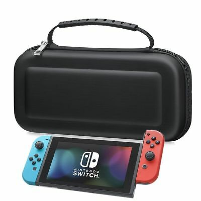 Hard Protective (HANDLE) Carry Case Cover For Nintendo SWITCH Console Game-BLACK
