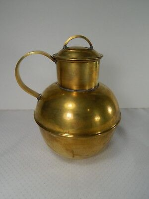 Small Antique Brass Guernsey and Jersey Milk Jug. Channel Islands.