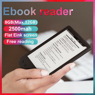 6 Inch E-Ink Screen 8GB E-Book Reader E-Paper E-Reader 800x600 Resolution USB SG