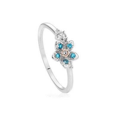NEW Clogau Silver & Rose Gold Forget Me Not Affinity Stacking £50 off SIZE S