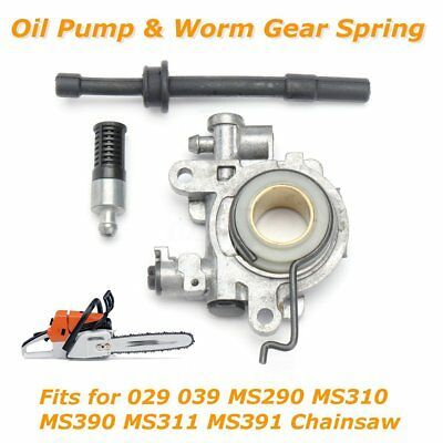 Oil Pump Oiler Worm Gear Spring Line Filter for STIHL 029 039 MS290 MS310 MS390