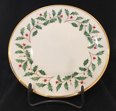 """Lenox Holiday Dimension Collection China 8"""" Luncheon Plates"""