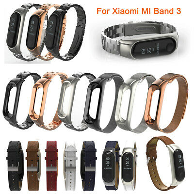 For Xiaomi Mi Band 3 Watchband Stainless Steel Wristband Metal Bracelet Strap