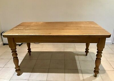 "Kitchen Farmhouse 5"" Solid Pine Dining Table"