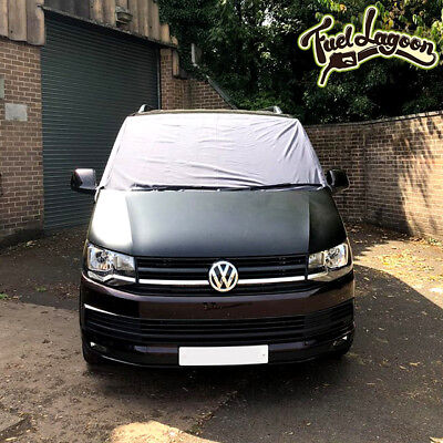 VW T6 Screen Cover Black Out Front Window Curtain Wrap Windshield Camper Grey