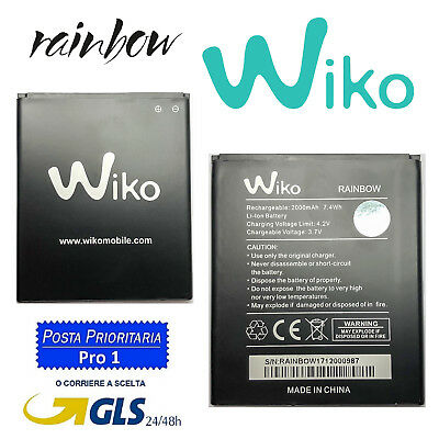 BATTERIA WIKO RAINBOW 2000 mAh PER WIKO RAINBOW JAM 3G LITE 4G BARRY BLOOM BULK