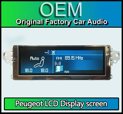 Peugeot 407 colour display screen, RD4 radio LCD Multi function clock dash