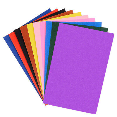 10 Colors DIY Crafting Sheets Glitter Paper Art Paper Drawing Paper For Crayon
