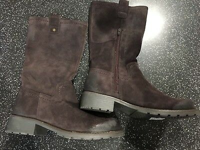 b0ade518d88 CLARKS ORINOCO RIVER Dark Brown Boots New Without Tags