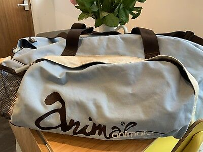 Large Animal Blue Cream And Brown Holdall