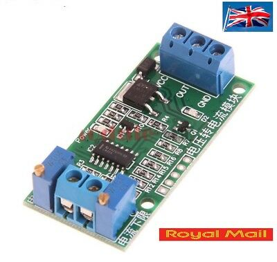Voltage to Current Transmitter Signal Module Linear Conversion 0-5V to 4-20mA