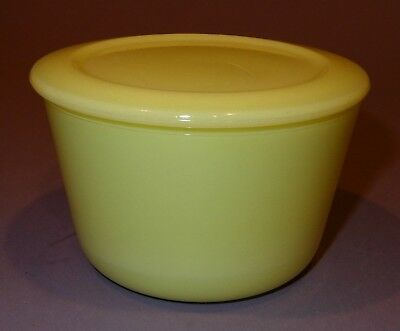 Vintage 1930s Depression McKEE Glass Seville Yellow Small Canister Leftovers K