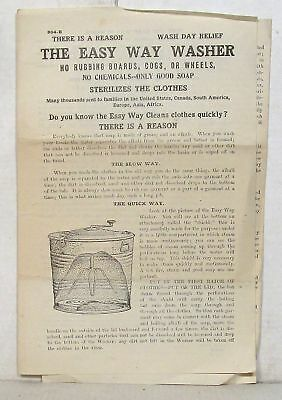 Vintage flyer for Easy Way Washer (Harrison Manufacturing, Cincinnati)