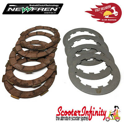 Clutch Kit 5 Plate Newfren Italian - Lambretta Race Compound Corks & 1mm Steels