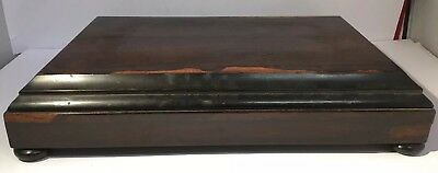 Antique Wooden Clock Base With Draw - For Large Mantel Clock, Bun Feet - Quality