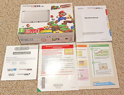 *no Console* Nintendo 3Ds Xl White Box Packaging Only Super Mario 3D Land