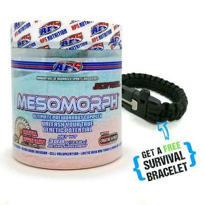 Pre-Workout Mesomorph APS - Carnival Cotton Candy - Plus FREE Survival Bracelet