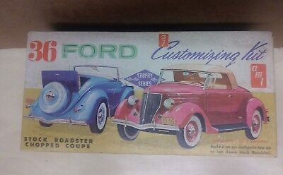 AMT '36 Ford 3 in 1 Customizing Kit Model #149 OPENED Partially Painted