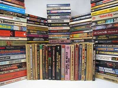 Lot of 20 Science Fiction/Fantasy Books: Mixed Vintage Softcover VG