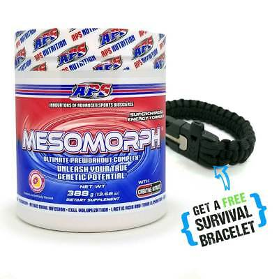 Pre-Workout Mesomorph APS - Pink Lemonade - Plus FREE Survival Bracelet - F&F