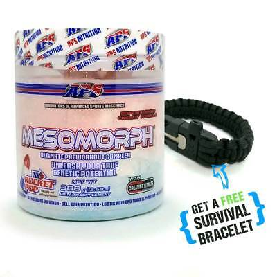 Pre-Workout Mesomorph APS - Rocket Pop - Plus FREE Survival Bracelet - FAST SHIP