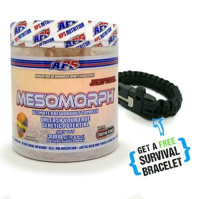 Pre-Workout Mesomorph APS - Snow Cone - Plus FREE Survival Bracelet - SHIPS FAST