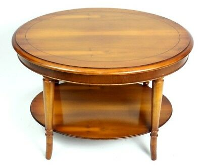 Vintage Yew Two Tier Oval Coffee Table - FREE Shipping [PL4746]