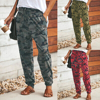 Women Camouflage Trousers Casual Pants Military Army Combat Sweatpants Tracksuit