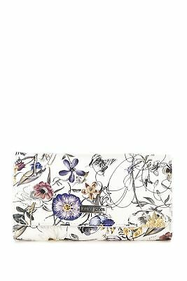 New Laura Jones Gemma Floral Large Large Womens Purse Wallet White Multi