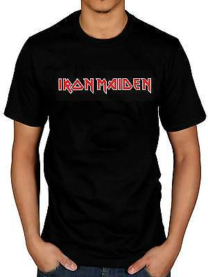 Official Iron Maiden Classic Logo T-Shirt Rock Heavy Metal Band Merchandise