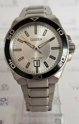 Citizen Eco-Drive AW1190-53A Men's 42mm Silver tone S/Steel Solar Powered Watch