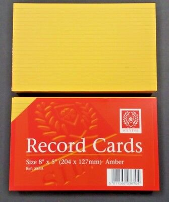 300 3x100 SILVINE AMBER RULED 8x5 RECORD REVISION FLASH INDEX CARDS HOME OFFICE