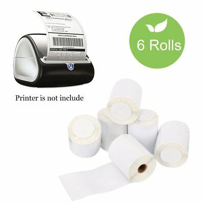 6 Rolls Dymo 4XL 4X6 Thermal Shipping Labels 1744907 Compatible 220 Labels /Roll