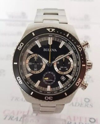 98B298 Bulova Men's 45mm Stainless Steel High Frequency Quartz Chronograph Watch