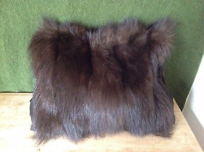 Vintage ANTIQUE REAL FUR MUFF HAND WARMER MINK