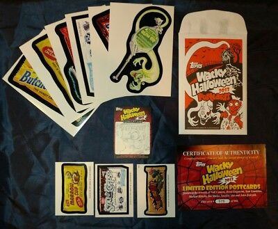 2013 Topps Wacky Packages Halloween Postcards Set #573 OF 666 w/ Sketch Card