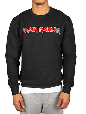 Official Iron Maiden Classic Logo Sweatshirt Somewhere In Time Powerslave