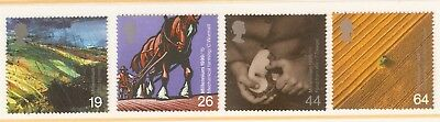 Collectible Great Britain 1999 Europa Millennium Stamps: Farmers: Horses, Fields