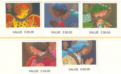 Collectible Great Britain 1998 Christmas MNH Stamps: Angels: Flute,Lute,Praying