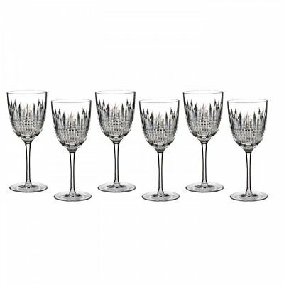 Waterford Crystal Lismore Diamond Goblet Set of 6, bad box*