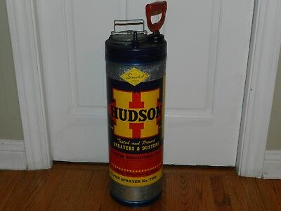 Vtg Antique Hudson Farm Garden Bug Sprayer Duster Galvanized Steel Primitive