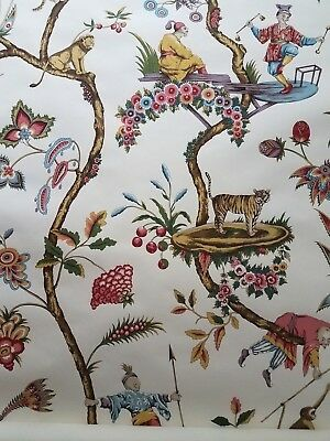 Scalamandre Chinoise Exotique Wallpaper Partial Roll 14 ft VTG Chinoiserie #2