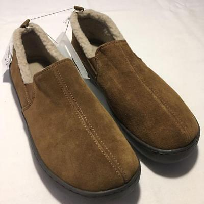Carsons Mens Moccasin Suede Fleece Lined mocassin Slippers size 11