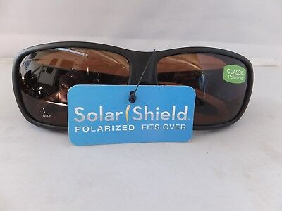 Solar Shield Classic Polarized Sunglasses Fits Over Glasses, Size Large