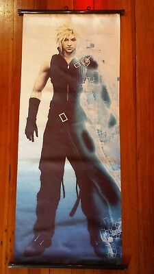 "FINAL FANTASY VII ADVENT CHILDREN ""CLOUD STRIFE"" 40cm X 100cm CLOTH WALL SCROLL"
