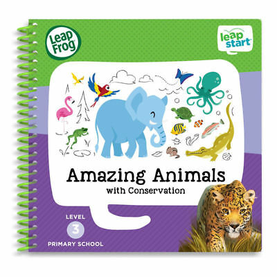 Leap Frog LeapStart Amazing Animals Activity Book 40+ Replayable Activities +4yr